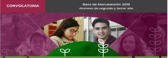 BECA DE MANUTENCIÓN 2019. Alumnos de segundo y tercer año