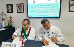 FIRMA DEL CONVENIO ITP Y EL INSTITUTO NACIONAL DE LOS PUEBLOS INDÍGENAS (INPI)